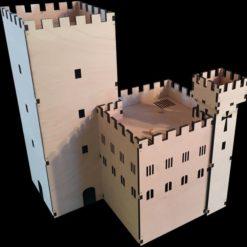 Große Ritterburg aus Holz